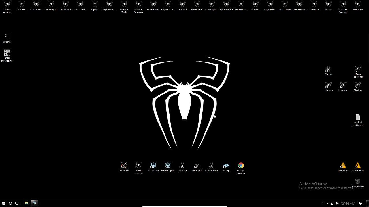 Windows 10 black spider