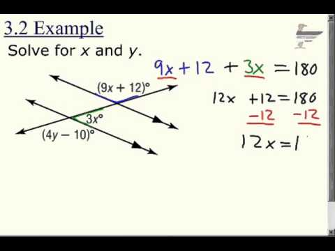 3-2 problem solving angles formed by parallel lines and transversals
