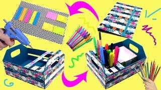Ideias para Organizar o MATERIAL ESCOLAR - Porta Lápis - Porta Bloco - Volta as aulas - DIY