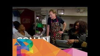 Conan Works At Sylvia's Restaurant  - CONAN on TBS