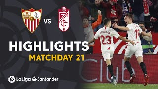 Highlights Sevilla FC vs Granada CF (2-0)