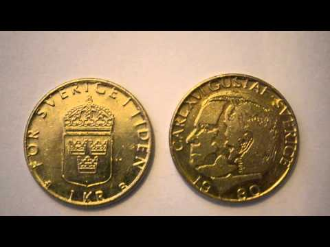One Swedish Krona 1980 metal