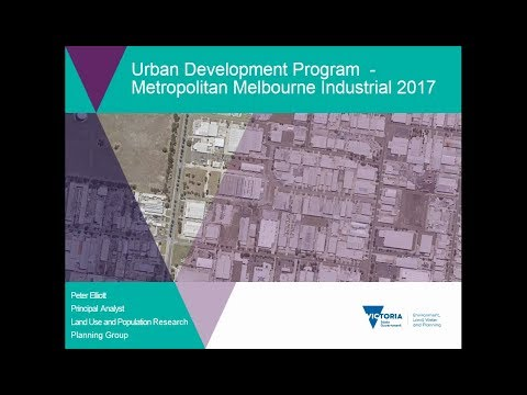 Urban Development Program - Metropolitan Melbourne Industrial 2017