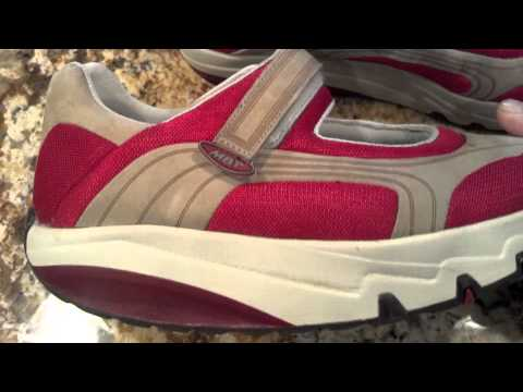 MBT ATHLETIC WALKING TONING LAMI RED MARY JANE SHOES WOMENS 10
