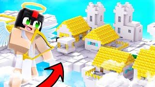 Minecraft PERO ENCONTRAMOS la ALDEA de DIOS en el CIELO 🔱😱 INVICTOR MINECRAFT
