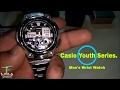 Casio YOUTH AQ 190WD 1AVDF (AD160) Analog Digital Men Watch Unboxing   World Clock   side-lit LED.
