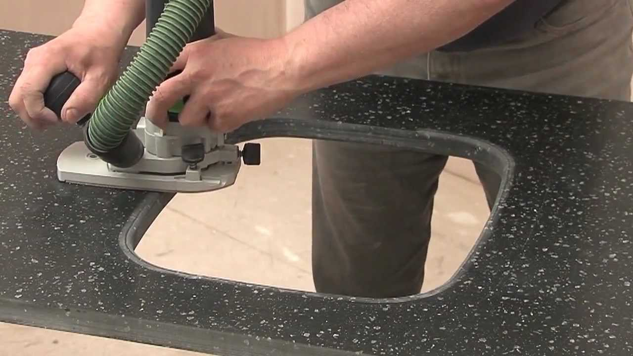 Mistral Solid Surface (09) - Undermount Sink Cut-out - YouTube on install laundry sink, install kohler kitchen sink, double sink install a kitchen sink, install bathroom sink, granite composite kitchen sink, install farmhouse kitchen sink, install shower, install faucet kitchen sink, install kitchen sink sprayer, install kitchen backsplash,