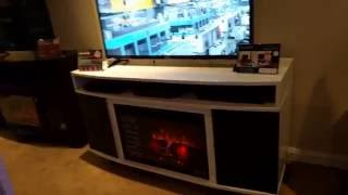 ClassicFlame 26MM9856-NT01 Enterprise Lite Fireplace TV Stand - product overview
