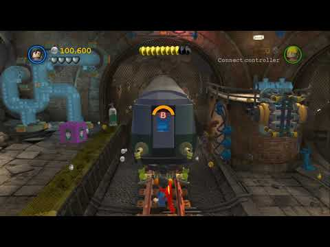 LEGO Batman 2 DC Super Heroes 100% Guide - Underground Retreat (All Minikits, Citizen in Peril)