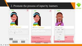 SLA Principles in language learning apps