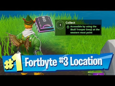 Fortnite Fortbyte #3 Location - Accessible By Using Skull Trooper Emoji At The Western Most Point