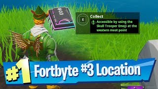fortnite fortbyte 3 location accessible by using skull trooper emoji at the western most point
