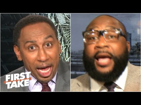 Stephen A. & Marcus Spears get heated debating Lamar Jackson vs. Aaron Rodgers | First Take