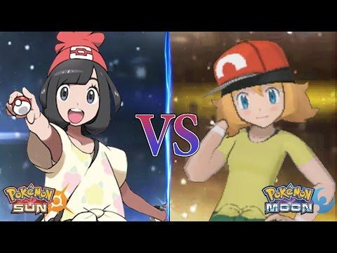 Pokemon Sun And Moon Trainer Moon Vs Alola Serena (Selene Vs Serena)
