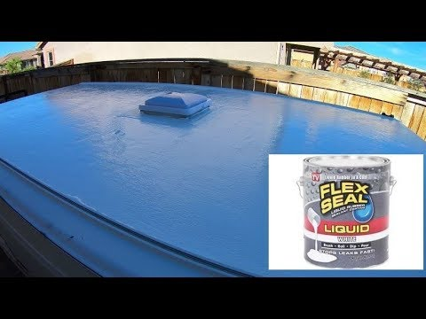 How To Apply Flex Seal Liquid To Your Rv Or Trailer Roof