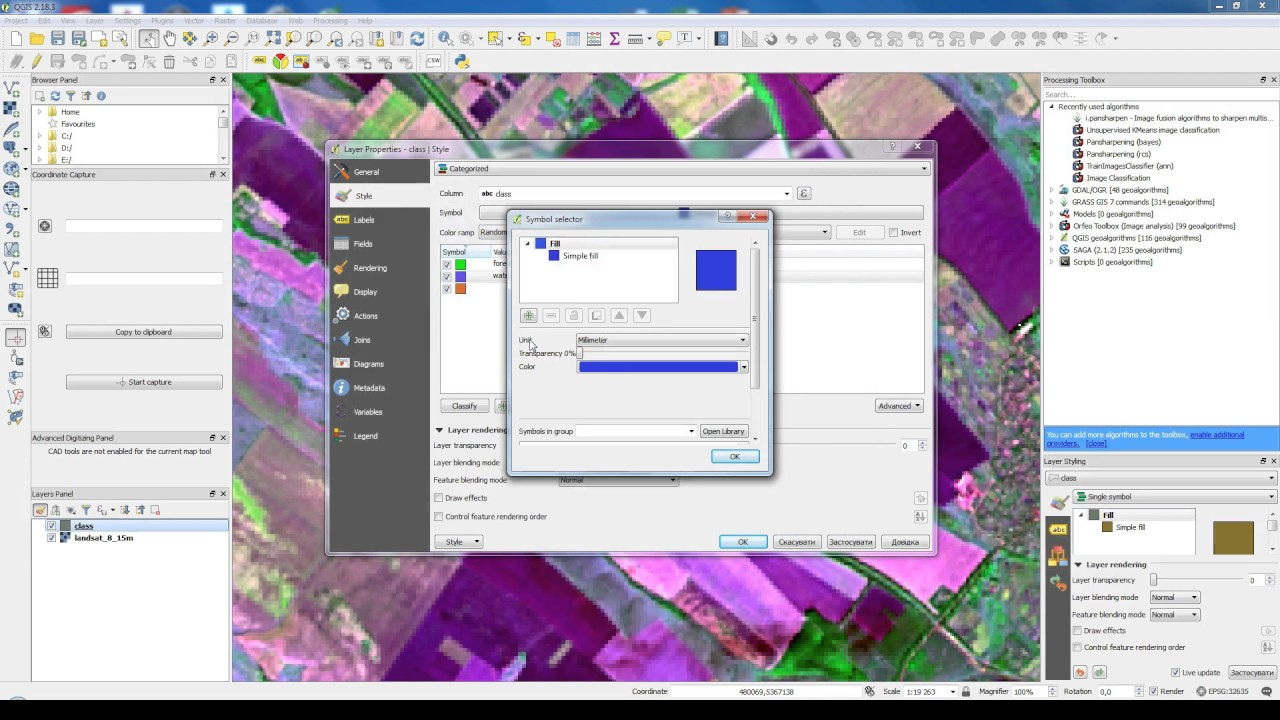 How to do manual classification of Landsat 8 data in QGIS - digitization