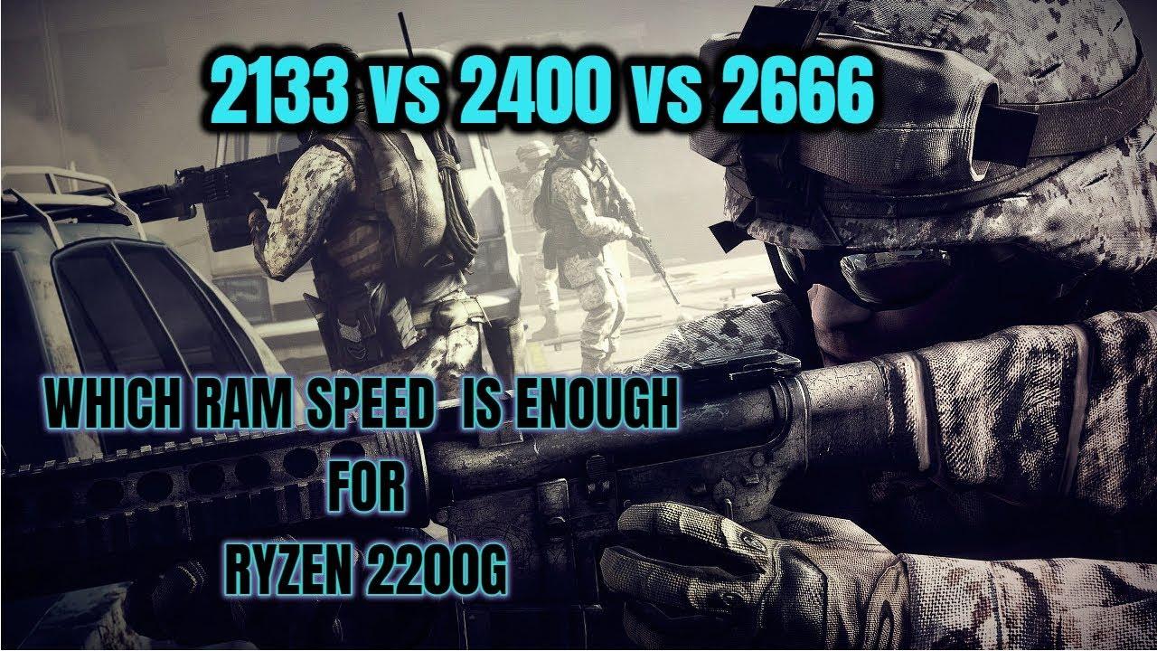 2133 vs 2400 vs 2666 MHz RAM speed test | Ryzen 3 2200g