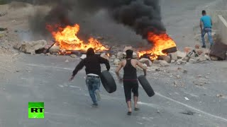 RAW: West Bank violence flares, hundreds of Palestinians clash with Israeli forces