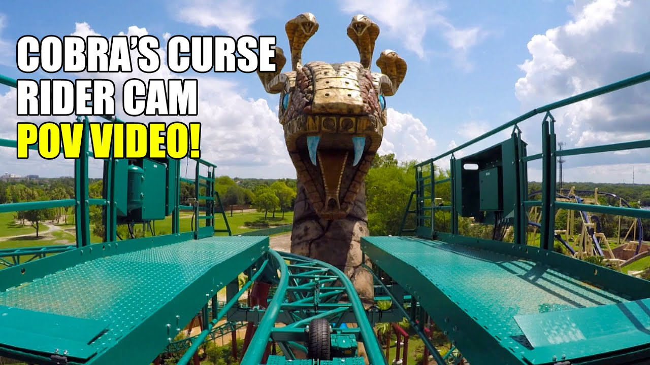 Cobras Curse Rider Cam POV Busch Gardens Tampa   YouTube