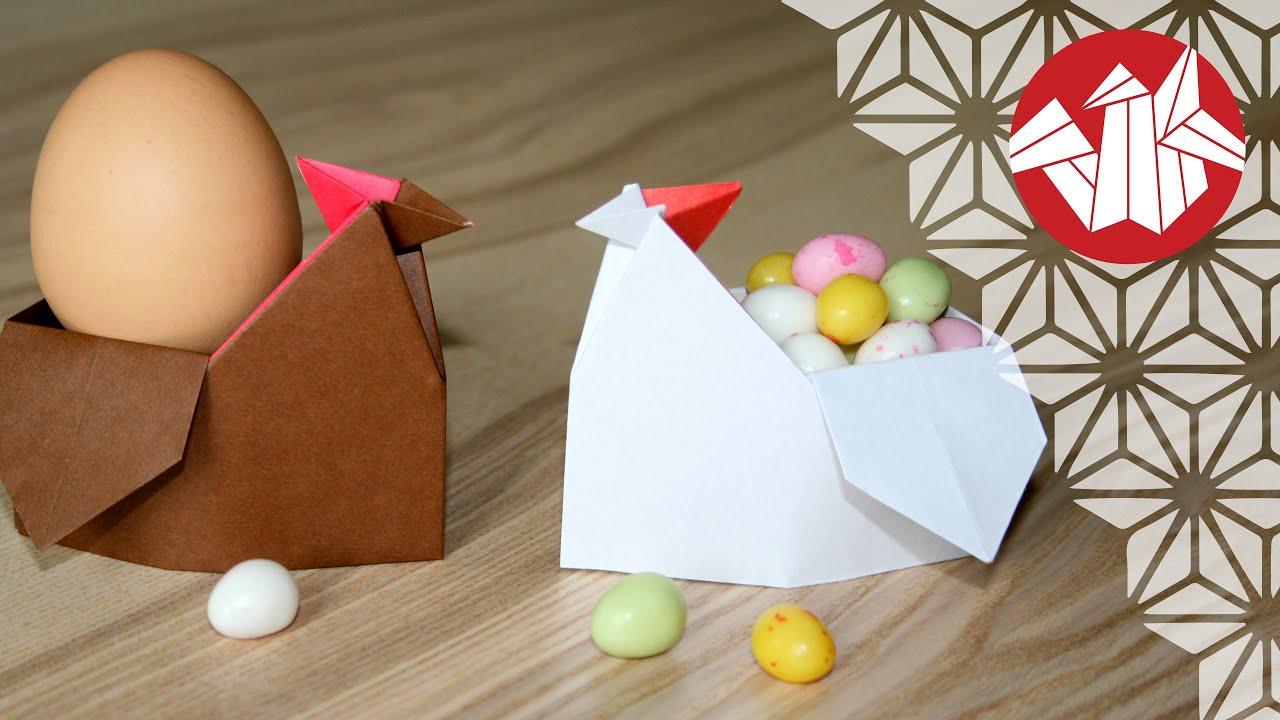 Origami Tutorial Easter Hen Egg Cup Senbazuru