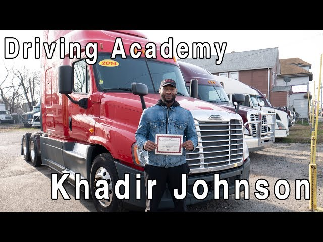 Khadir's CDL Training Has Paid Off - Driving Academy Student Testimonial