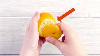 Se sbucci il mandarino così, fai brillare gli occhi a tutti i bambini.