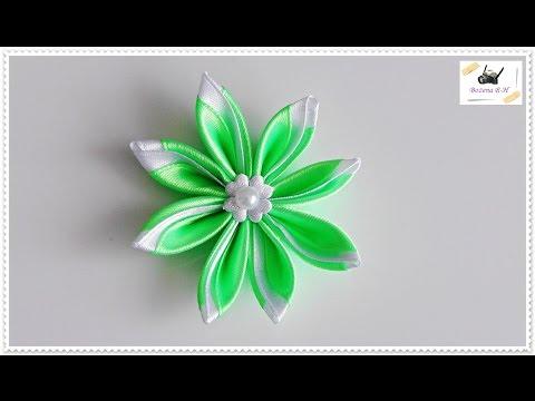 Kwiat Ze Wstazki Kanzashi Jak Wykonac Krok Po Kroku 79 Youtube