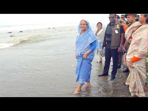 Bangladesh Prime Minister in Cox's Bazar Sea beach | সমুদ্র সৈকতে প্রধানমন্ত্রী শেখ হাসিনা।