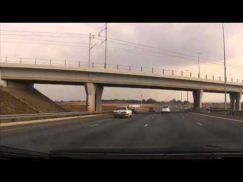 Driving in South Africa - Downtown Pretoria to Oliver R Tambo Airport