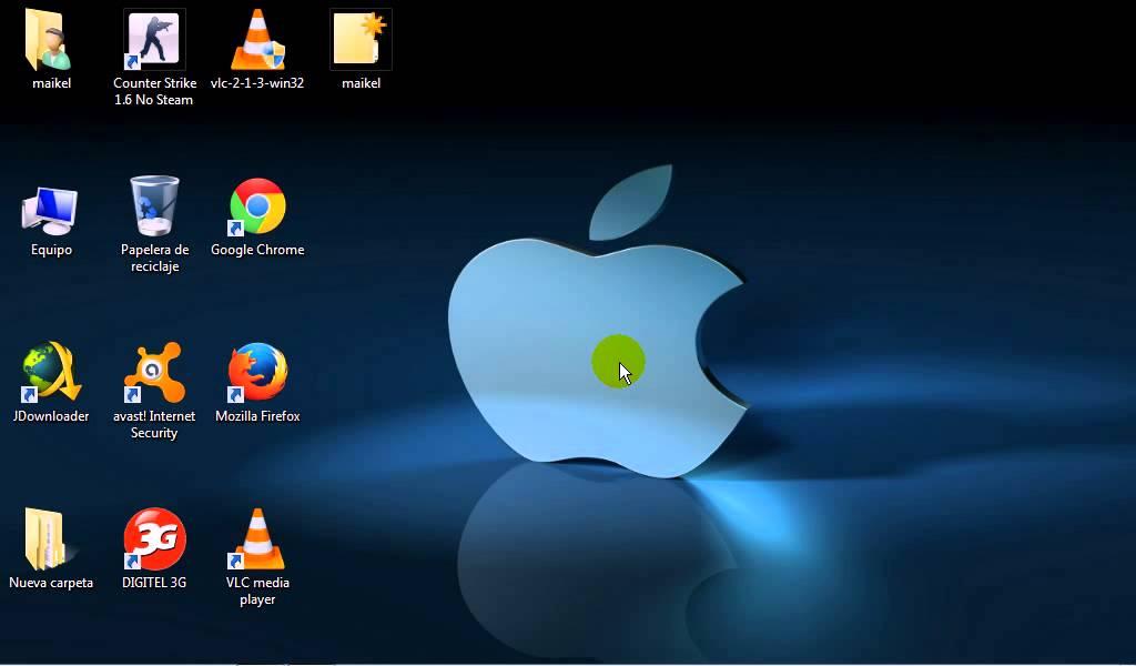 Como poner los iconos de tu escritorio mas grandes o mas pequ os en windows 7 youtube - Iconos para escritorio windows ...