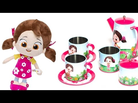 oyuncak bebek niloya ve oyuncak çay setiyle oynuyoruz. kurabiye yapma oyunu. saymayı öğreniyoruz.