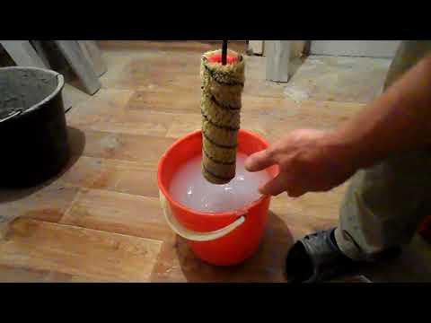 Как быстро отмыть валик от грунтовки или краски