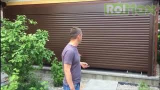 видео уличные рулонные ворота