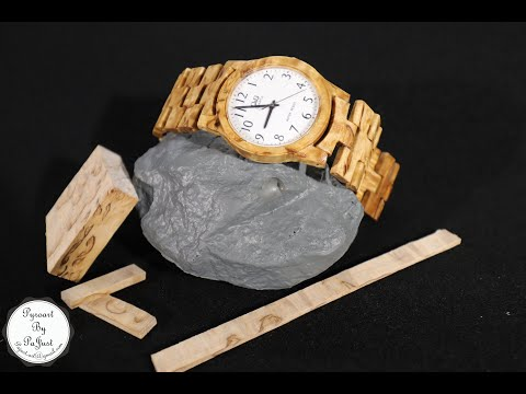 How to make a handmade wooden watch from stabilized wood