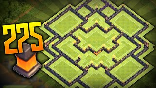 "Clash Of Clans - ""NEW"" BEST TOWN HALL 10 (TH10) TROPHY BASE BASE w/275 Walls New Update 2015!"