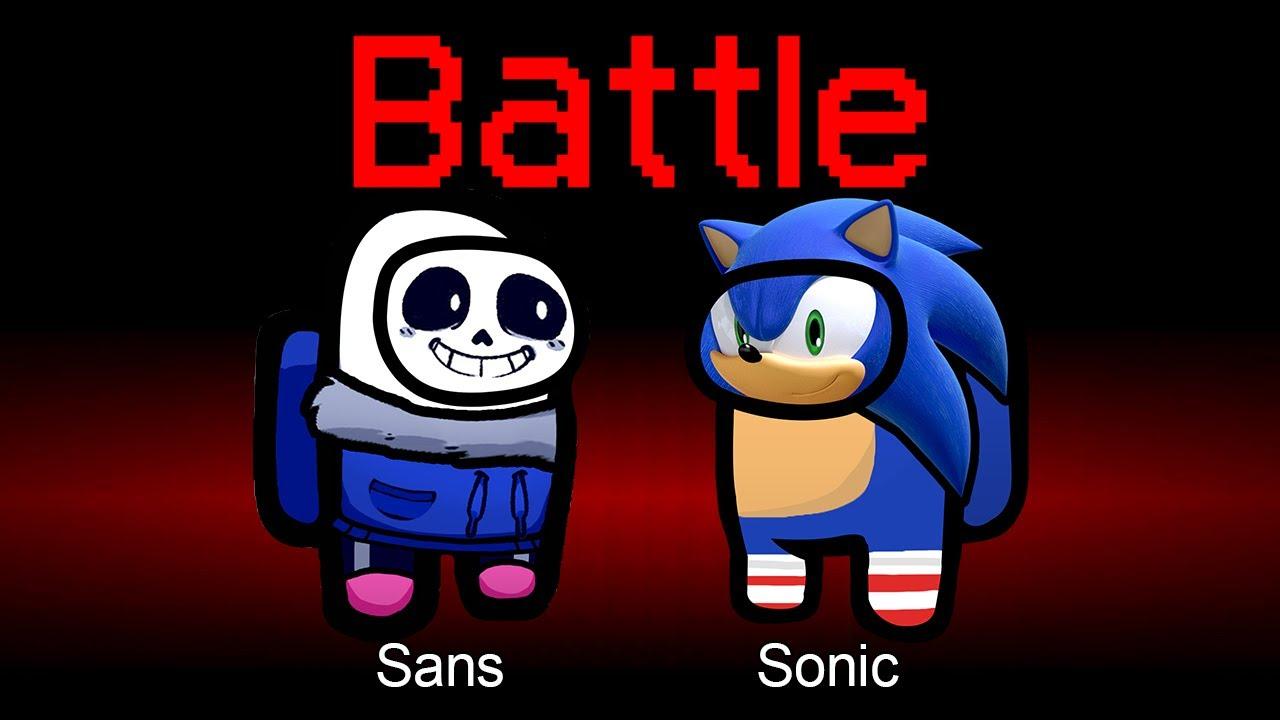 Among Us but Sans vs Sonic is an Impostor