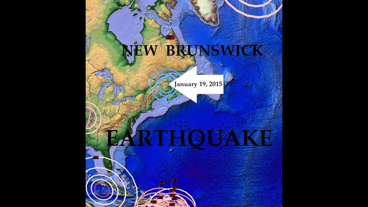 Map Of Canada Today.1 21 2015 Earthquake Forecast Hits New Brunswick Canada Added To The Map Today