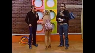 Fragments of girls in mini skirts on high heels from TV Shows el club mty1