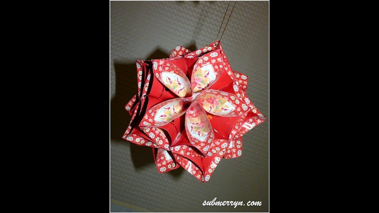 賀年摺紙 | DIY Chinese New Year Decor | Angpow Flower Lantern ...