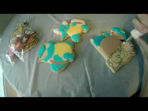 Squirtle Cookies Time Lapse by ButterWinks