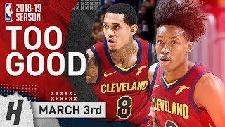 Jordan Clarkson & Collin Sexton Full Highlights Cavaliers vs Magic 2019.03.03 - 35 Points