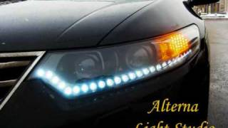 Honda Accord Vlll vs Audi A4. Led tuning by Alterna Light Studio