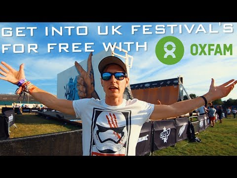 HOW TO GET INTO UK FESTIVAL'S FOR FREE by stewarding with OXFAM!