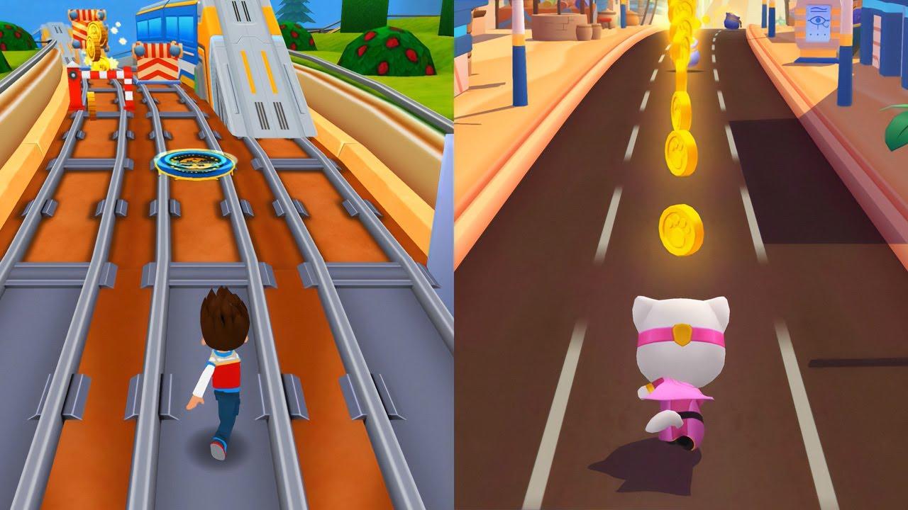 Who is the Best? Кто круче? Talking Angela or Ryder? Paw Patrol vs Talking Tom Hero Dash
