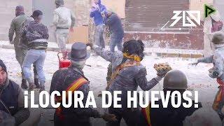 Video 360: pelea de huevos en España