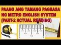 PAANO ANG TAMANG PAGBASA NG METRO PART-2 ACTUAL READING