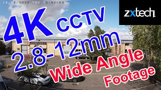 Zxtech 4K 8MP Auto Zoom Wide Angle Footage