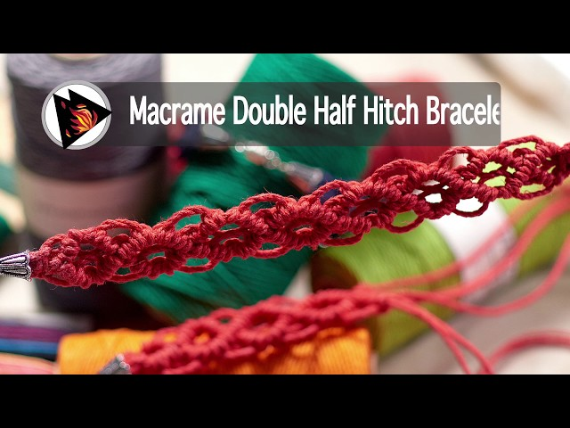 Macrame Double Half Hitch Bracelet