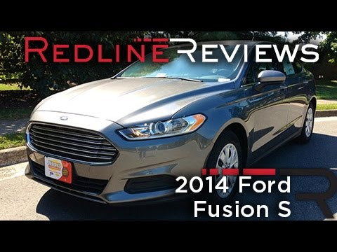 2014 Ford Fusion S Review, Walkaround, Exhaust, & Test Drive