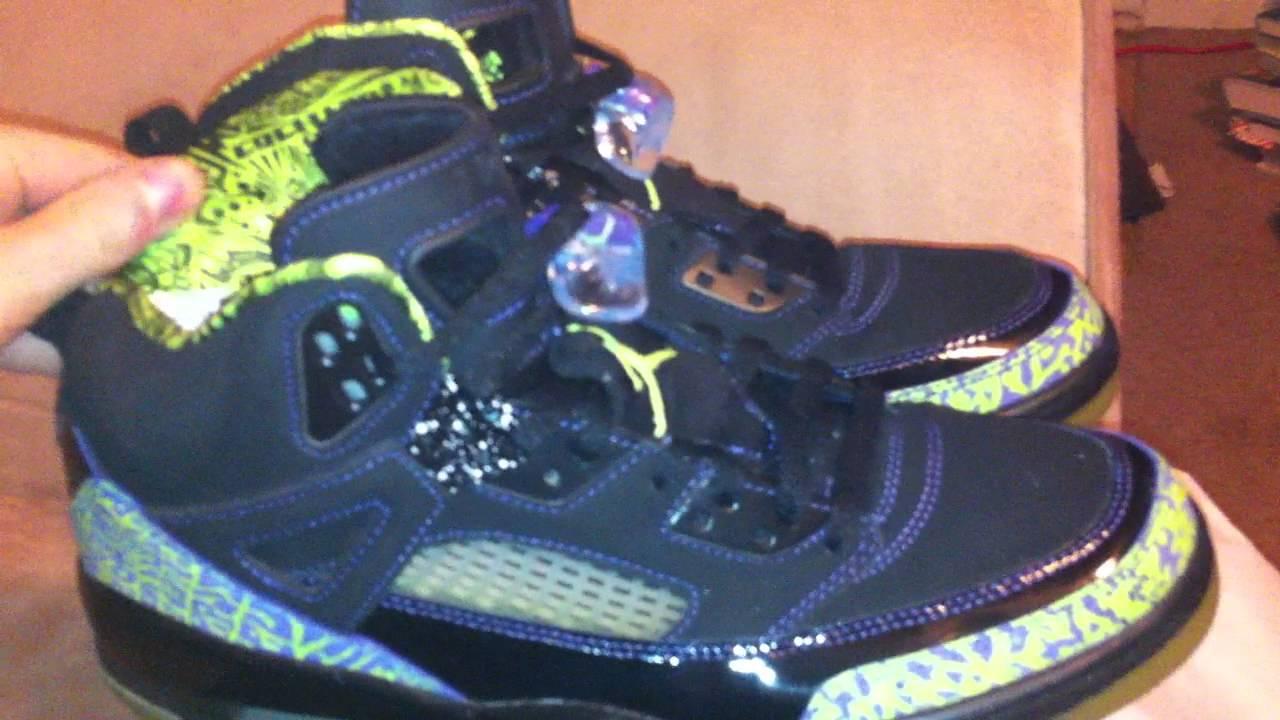 premium selection f0905 3530d Air Jordan Spizike black citron green purple (nellys) review authentic -  YouTube
